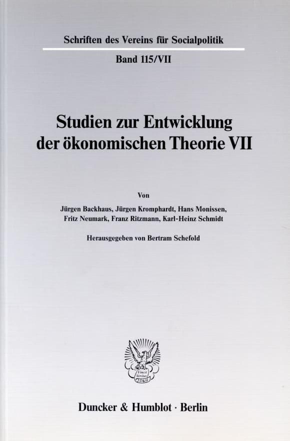 Cover Probleme der Konjunkturtheorie im ausgehenden 19. Jahrhundert