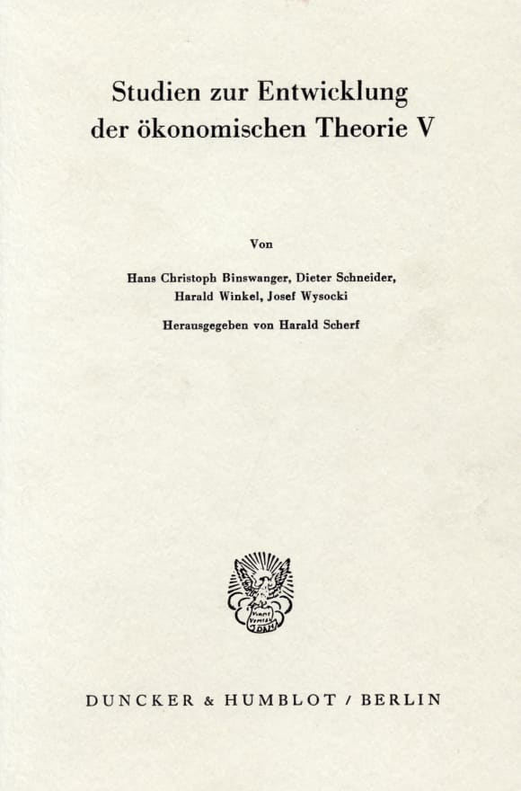 Cover Deutsche Nationalökonomie zu Beginn des 19. Jahrhunderts
