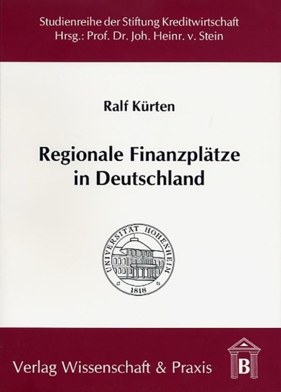 Cover Regionale Finanzplätze in Deutschland