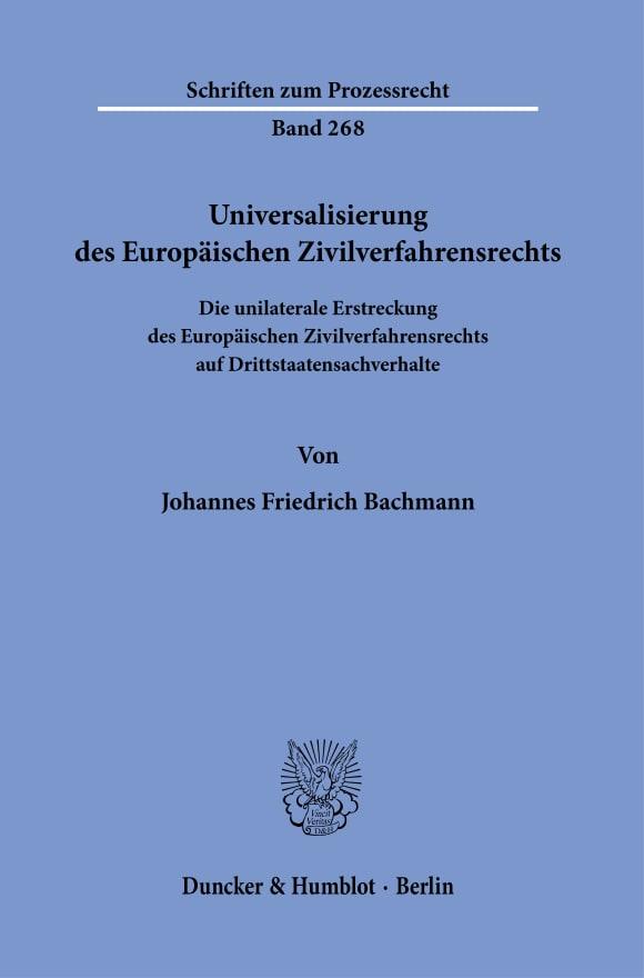 Cover Universalisierung des Europäischen Zivilverfahrensrechts