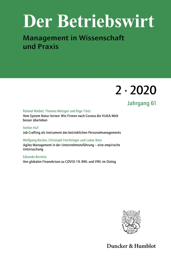 Cover DBW 2/2020