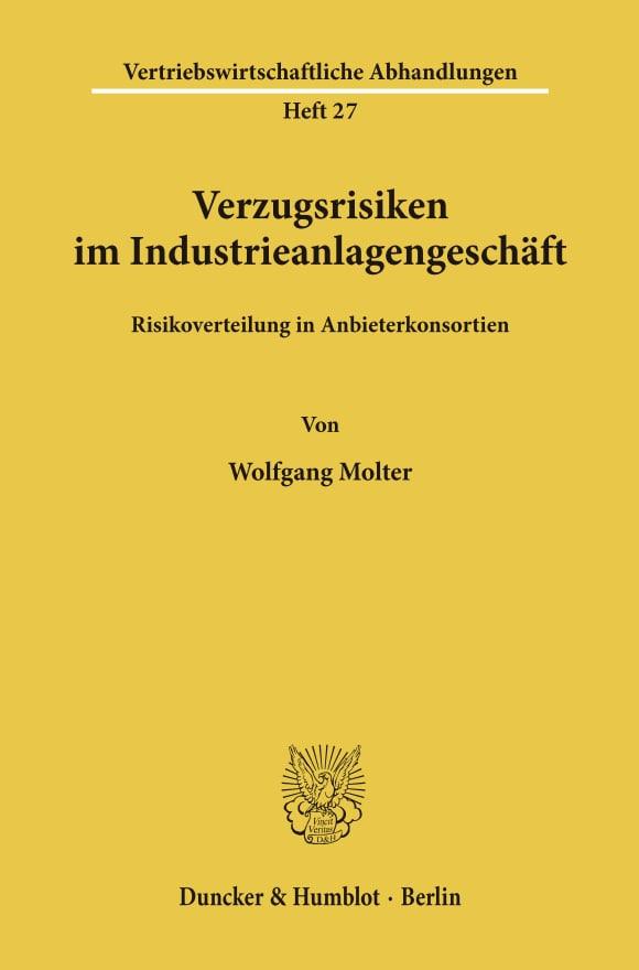 Cover Verzugsrisiken im Industrieanlagengeschäft