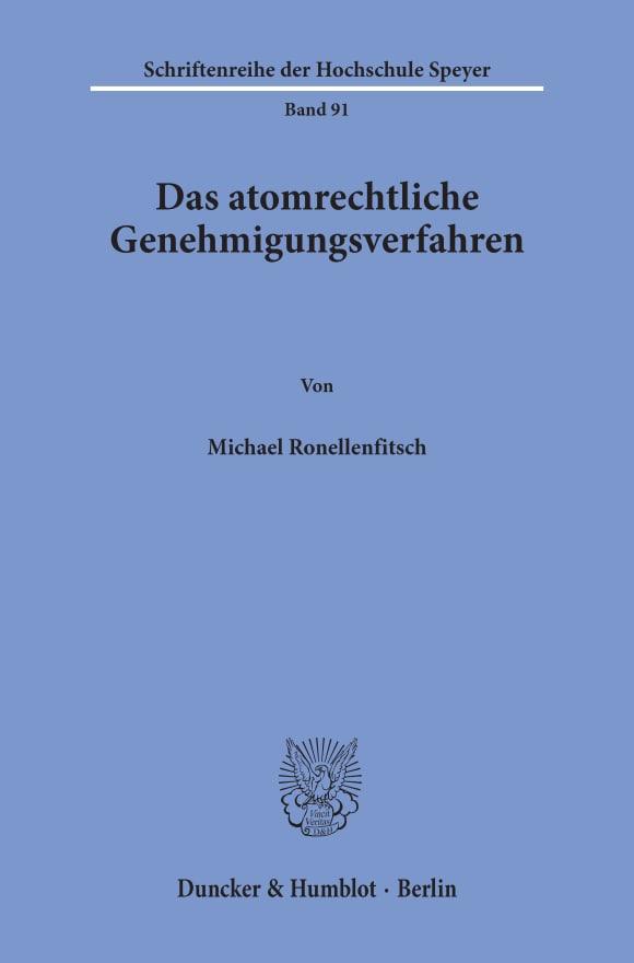 Cover Das atomrechtliche Genehmigungsverfahren