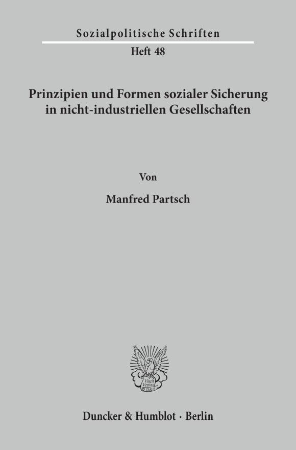 Cover Prinzipien und Formen sozialer Sicherung in nicht-industriellen Gesellschaften