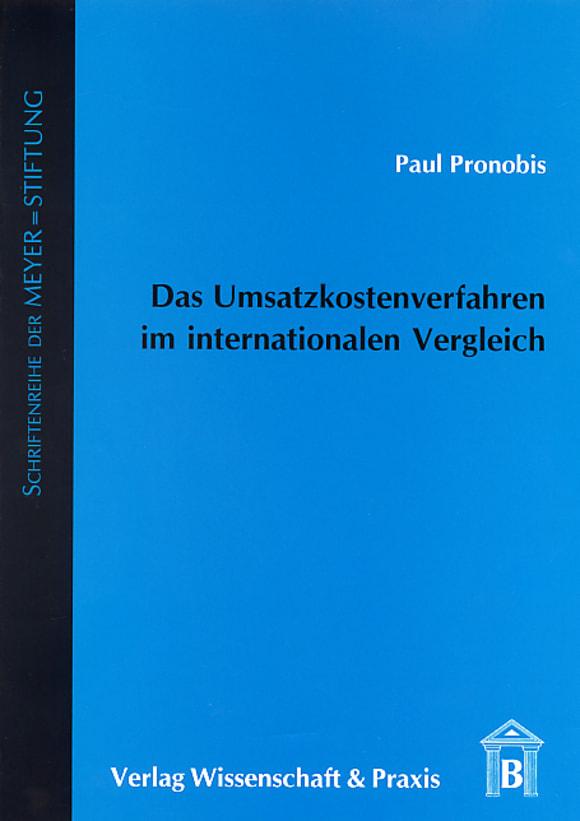 Cover Das Umsatzkostenverfahren im internationalen Vergleich