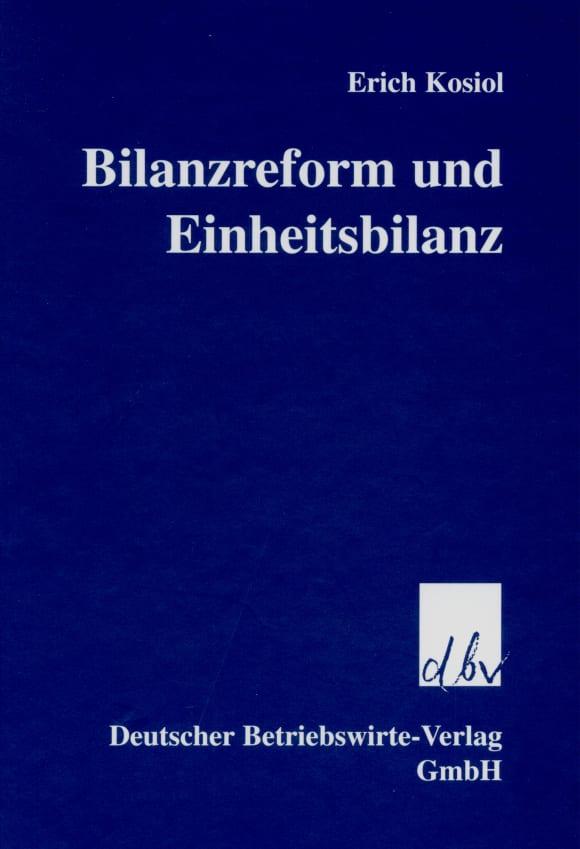 Cover Bilanzreform und Einheitsbilanz