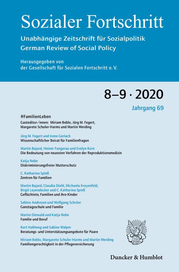 Cover #FamilienLeben – 50 Jahre wissenschaftliche Beratung für eine nachhaltige Familienpolitik (SF 8–9/2020)