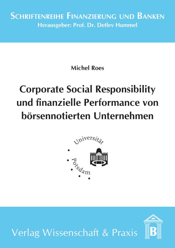 Cover Corporate Social Responsibility und finanzielle Performance von börsennotierten Unternehmen