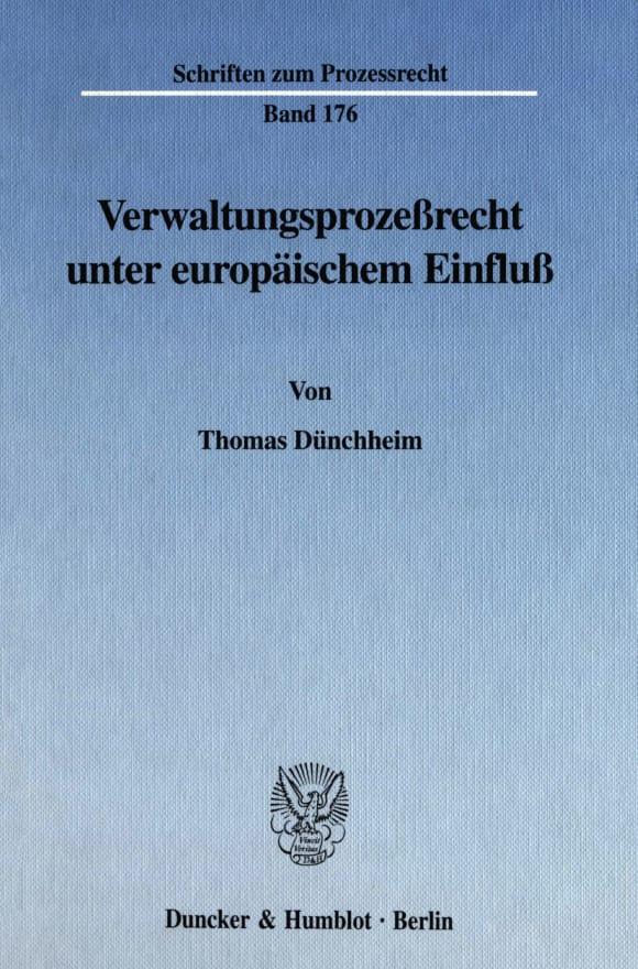Cover Verwaltungsprozeßrecht unter europäischem Einfluß