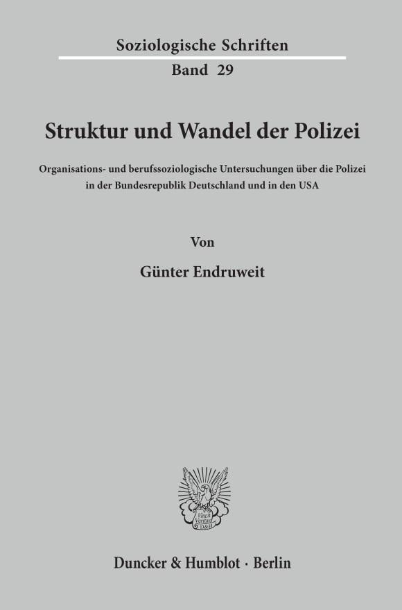 Cover Struktur und Wandel der Polizei