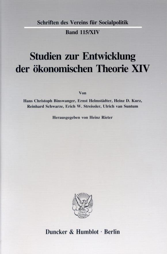 Cover Johann Heinrich von Thünen als Wirtschaftstheoretiker