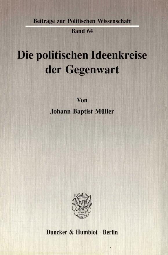 Cover Die politischen Ideenkreise der Gegenwart
