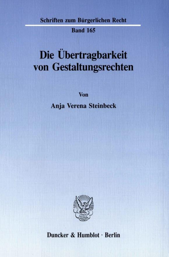 Cover Die Übertragbarkeit von Gestaltungsrechten
