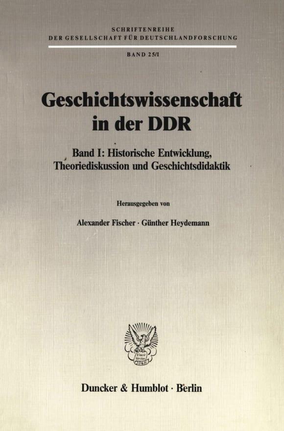 Cover Geschichtswissenschaft in der DDR