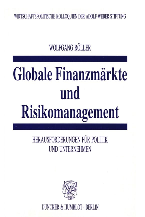 Cover Globale Finanzmärkte und Risikomanagement