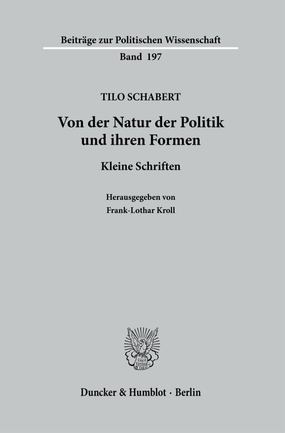 Cover Von der Natur der Politik und ihren Formen