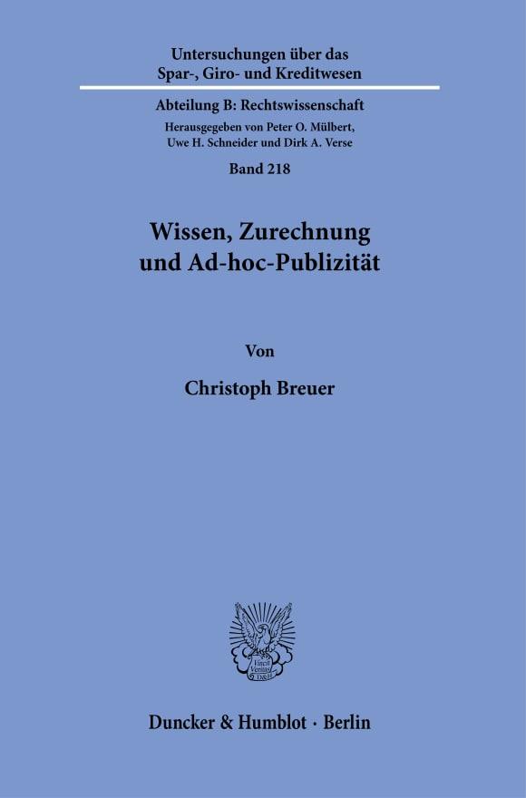 Cover Untersuchungen über das Spar-, Giro- und Kreditwesen. Abteilung B: Rechtswissenschaft (SGK B)