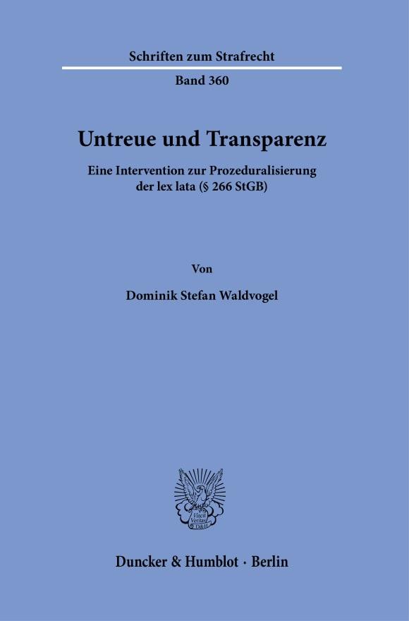 Cover Untreue und Transparenz