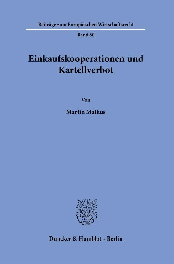 Cover Einkaufskooperationen und Kartellverbot