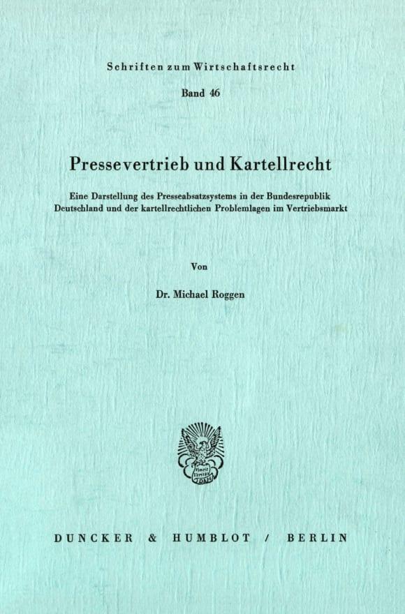 Cover Pressevertrieb und Kartellrecht