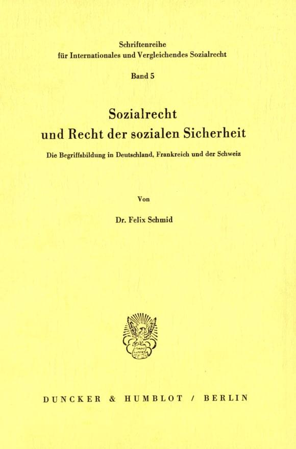 Cover Sozialrecht und Recht der sozialen Sicherheit