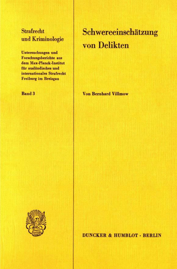 Cover Schwereeinschätzung von Delikten