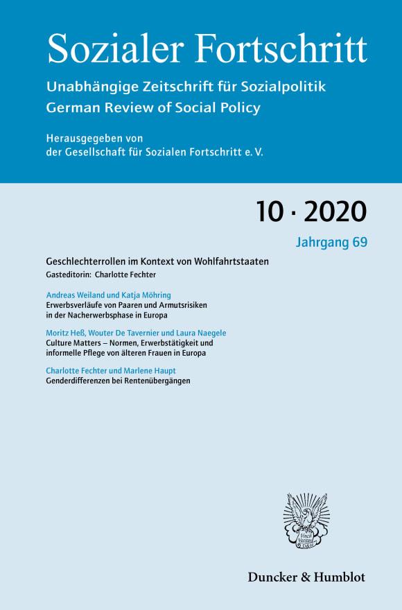 Cover Geschlechterrollen im Kontext von Wohlfahrtstaaten (SF 10/2020)