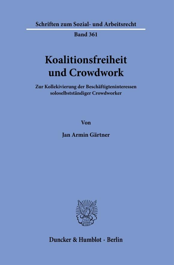 Cover Koalitionsfreiheit und Crowdwork