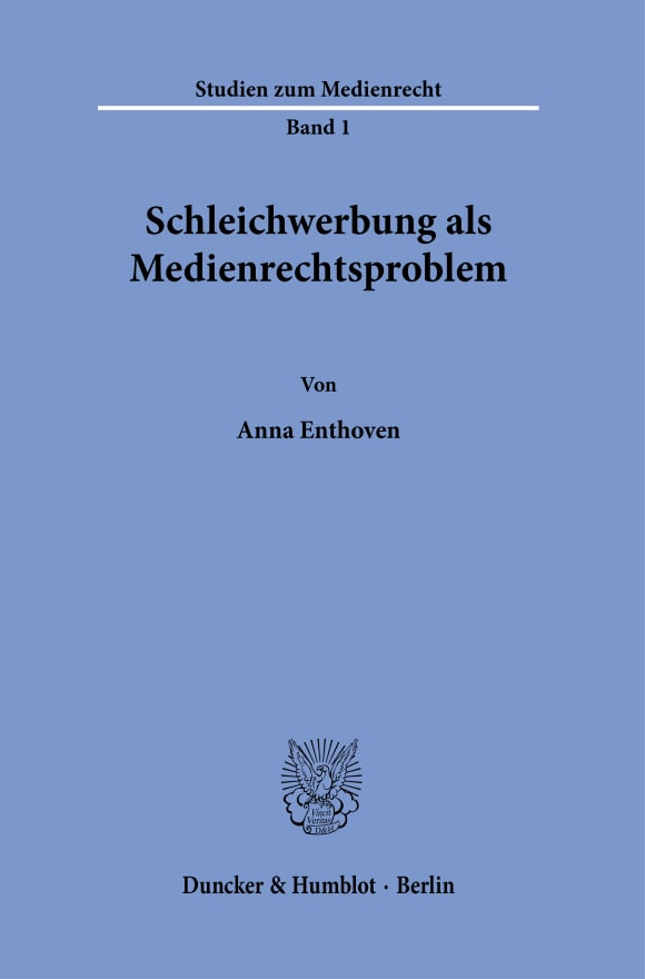 Cover Studien zum Medienrecht (MR)