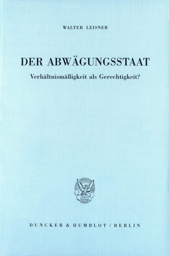 Cover Der Abwägungsstaat