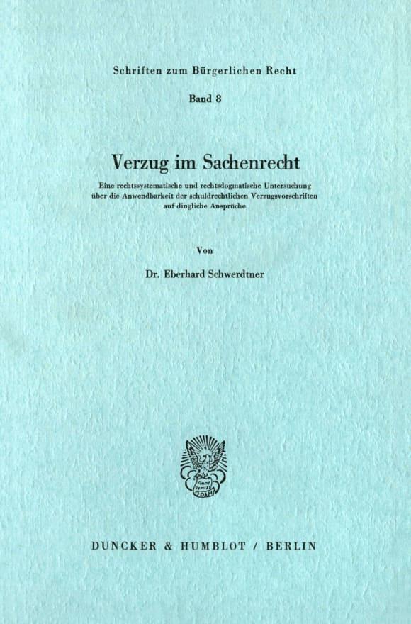 Cover Verzug im Sachenrecht
