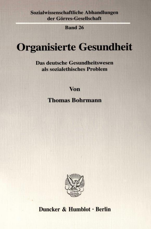 Cover Organisierte Gesundheit