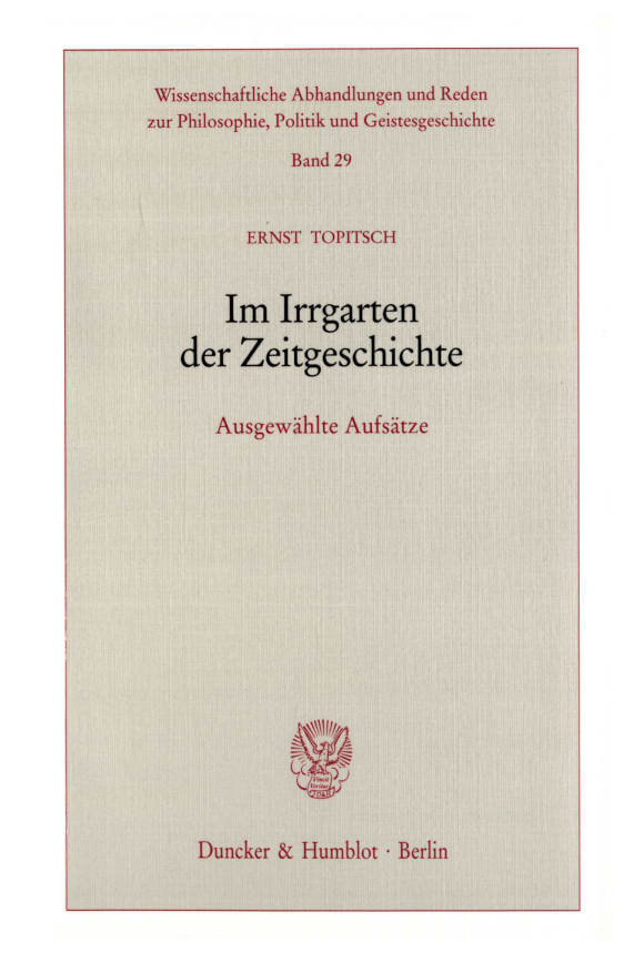 Cover Im Irrgarten der Zeitgeschichte