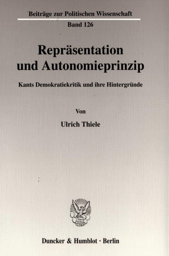 Cover Repräsentation und Autonomieprinzip