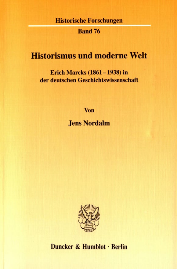 Cover Historismus und moderne Welt
