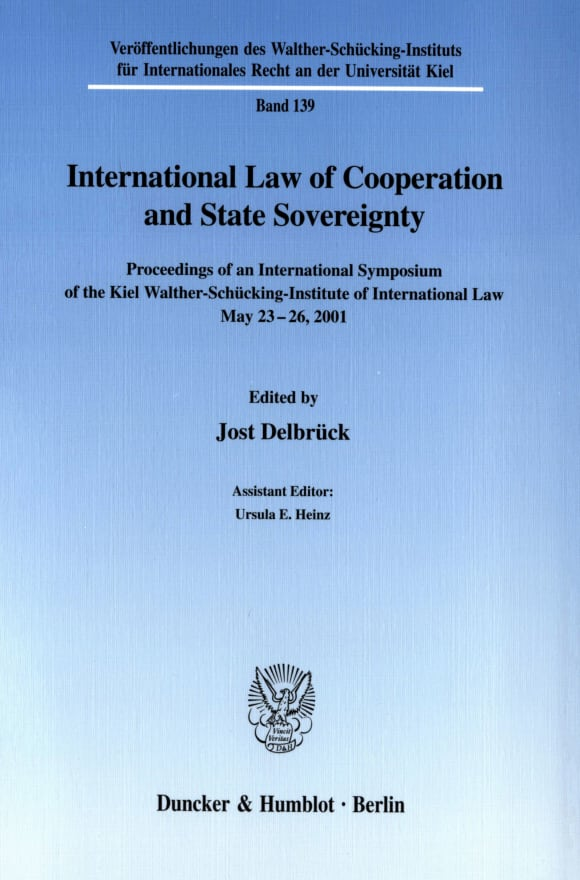 Cover International Law of Cooperation and State Sovereignty