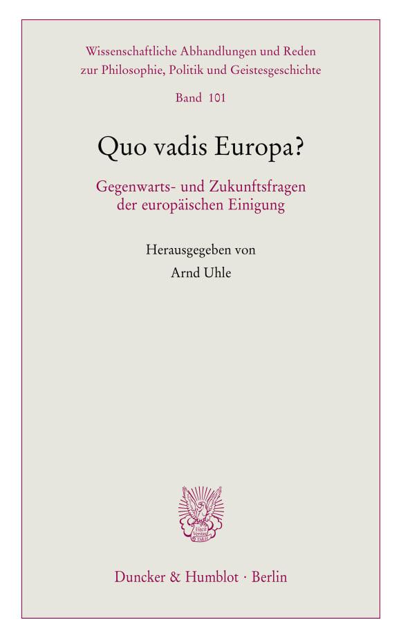 Cover Quo vadis Europa?