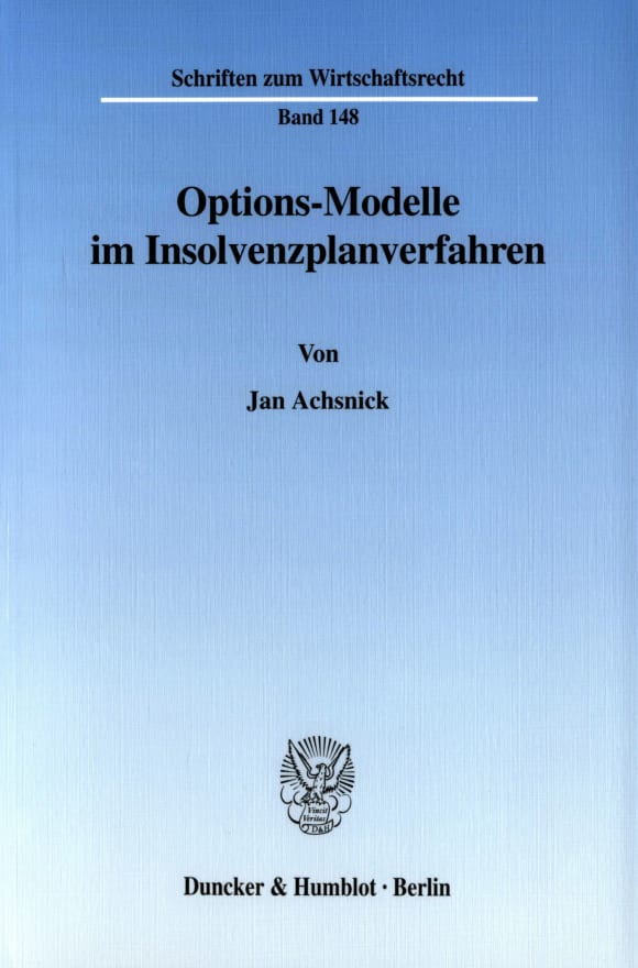 Cover Options-Modelle im Insolvenzplanverfahren