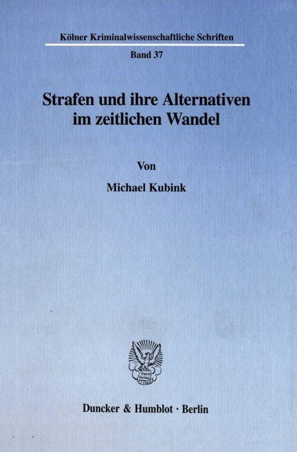 Cover Strafen und ihre Alternativen im zeitlichen Wandel