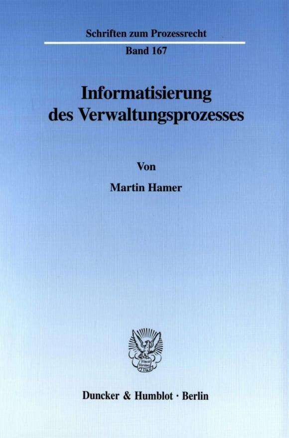 Cover Informatisierung des Verwaltungsprozesses