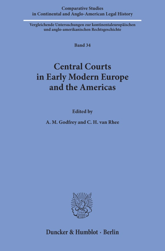 Cover Central Courts in Early Modern Europe and the Americas