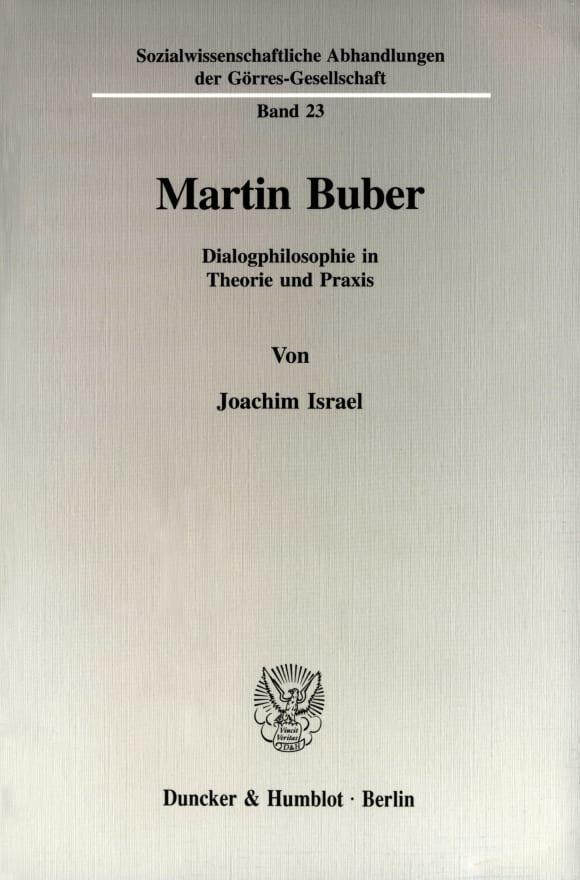 Cover Martin Buber