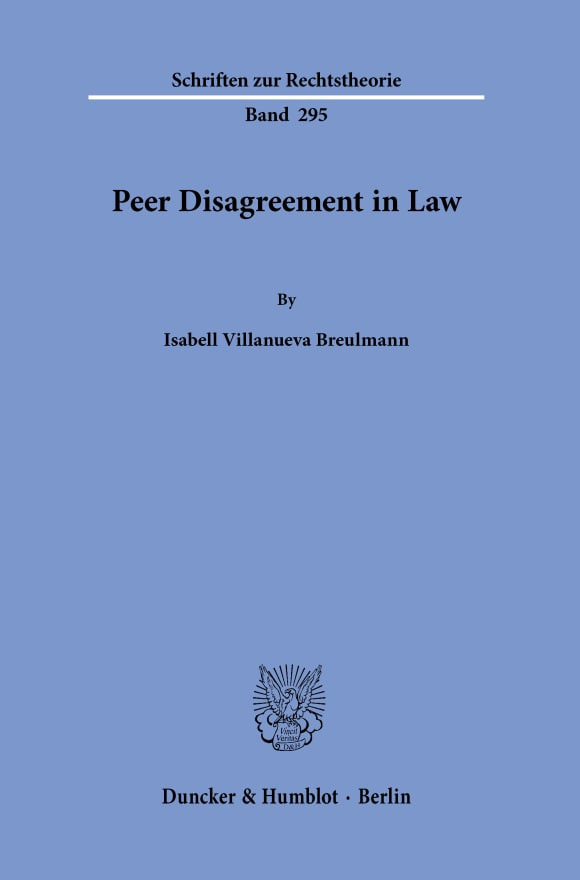 Cover Peer Disagreement in Law