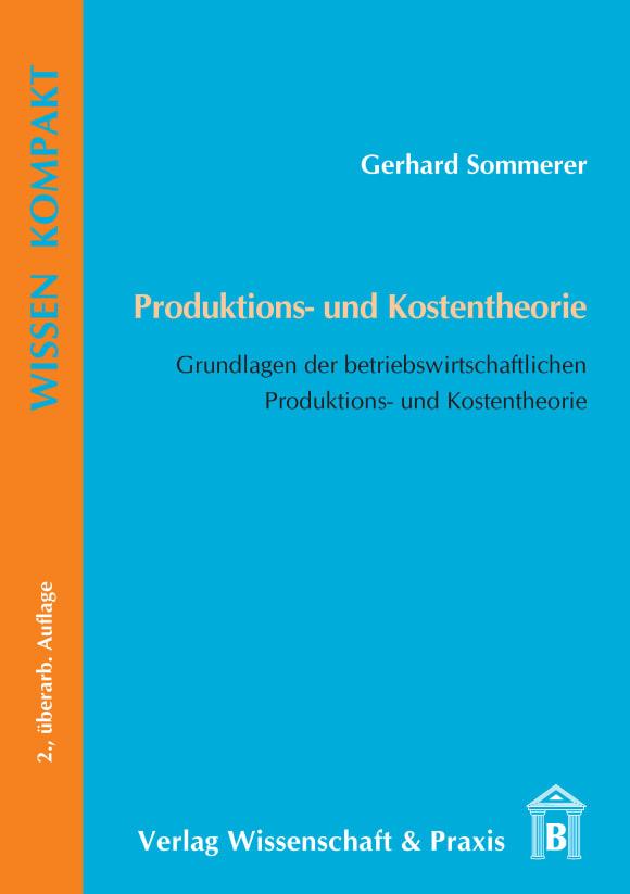 Cover Produktions- und Kostentheorie