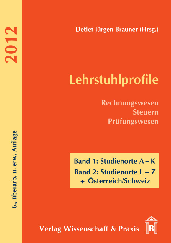 Cover Lehrstuhlprofile 2012