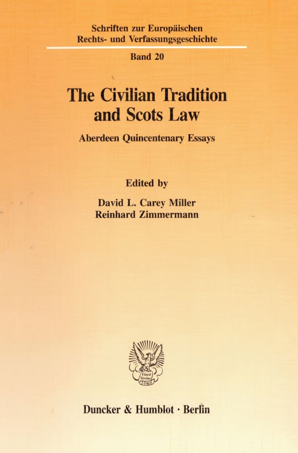 Cover The Civilian Tradition and Scots Law