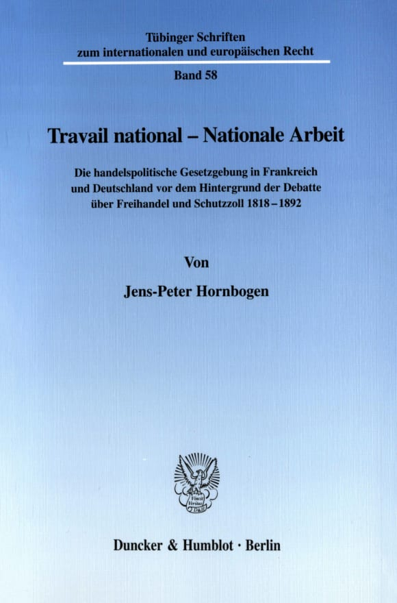 Cover Travail national - Nationale Arbeit