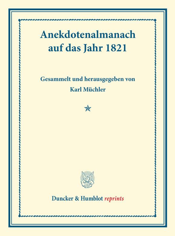 Cover Duncker & Humblot reprints