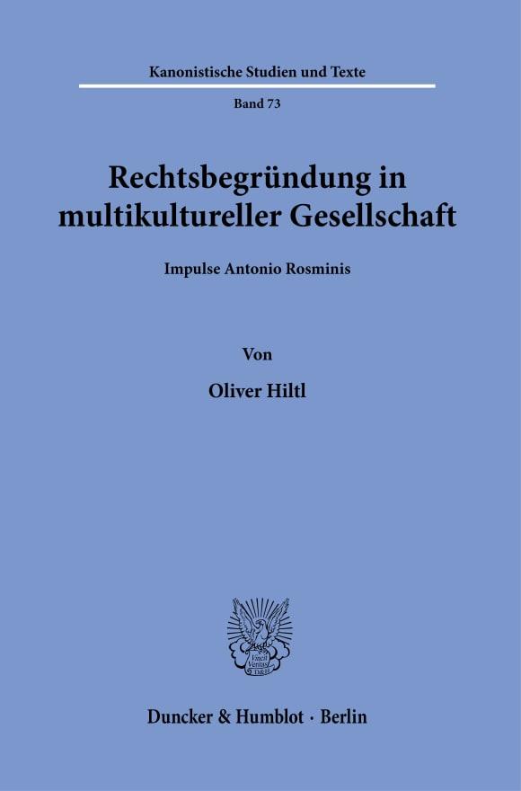 Cover Rechtsbegründung in multikultureller Gesellschaft