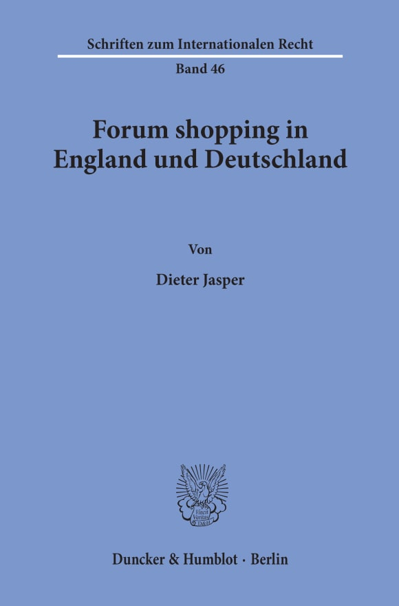 Cover Forum shopping in England und Deutschland